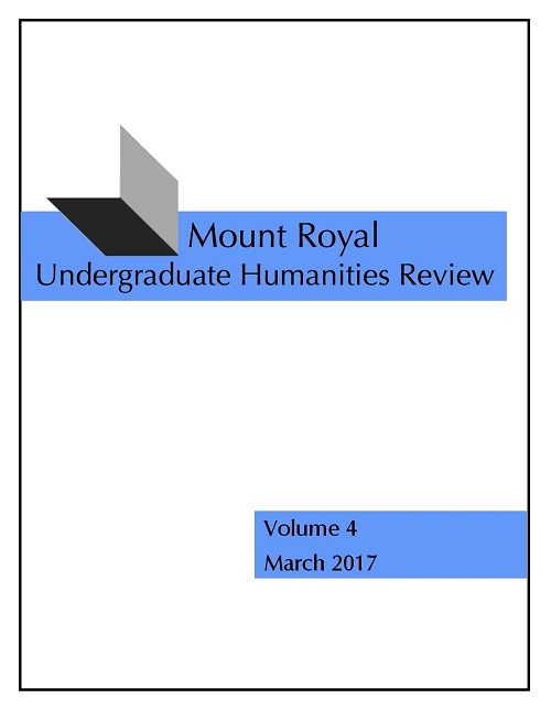 Mount Royal Undergraduate Humanities Review Volume 4 March 2017