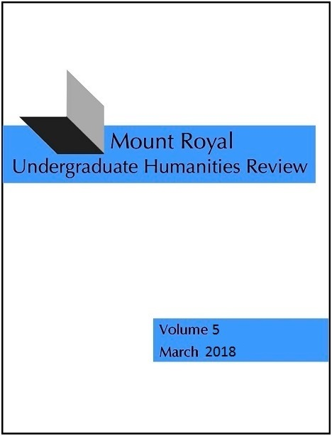 View Vol. 5 (2018): Mount Royal Undergraduate Humanities Review