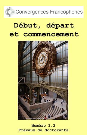 Afficher Vol. 1 No. 2 (2014): Début, départ et commencement